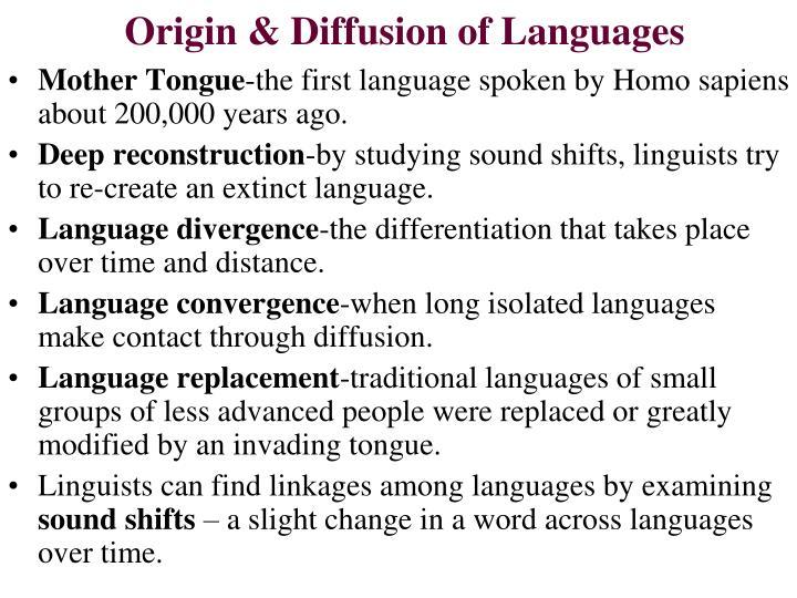 Origin & Diffusion of Languages
