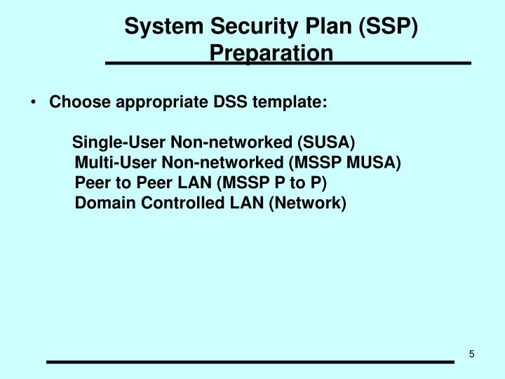 PPT - System Security Plan (SSP) Preparation PowerPoint Presentation ...