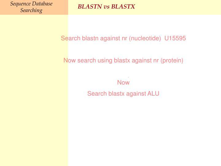 BLASTN vs BLASTX