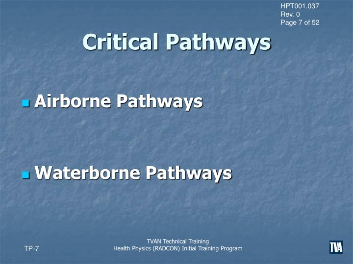 Critical Pathways