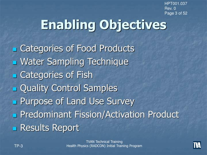 Enabling objectives1