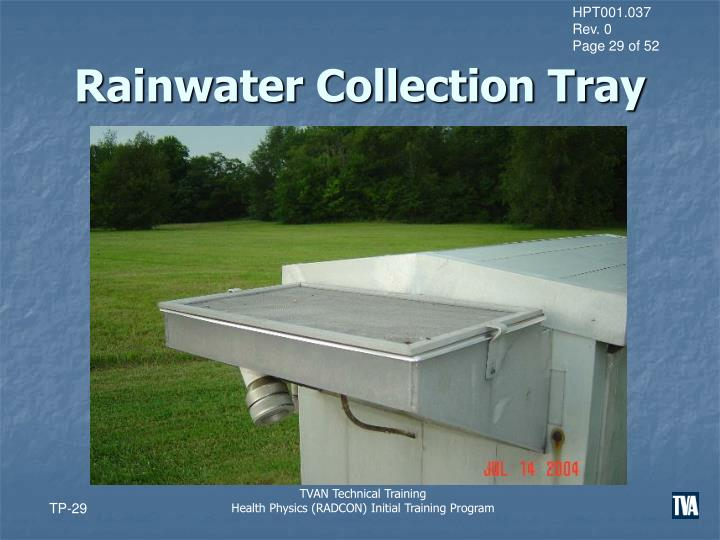 Rainwater Collection Tray
