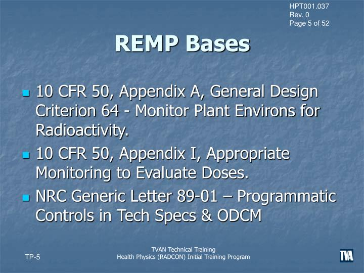 REMP Bases
