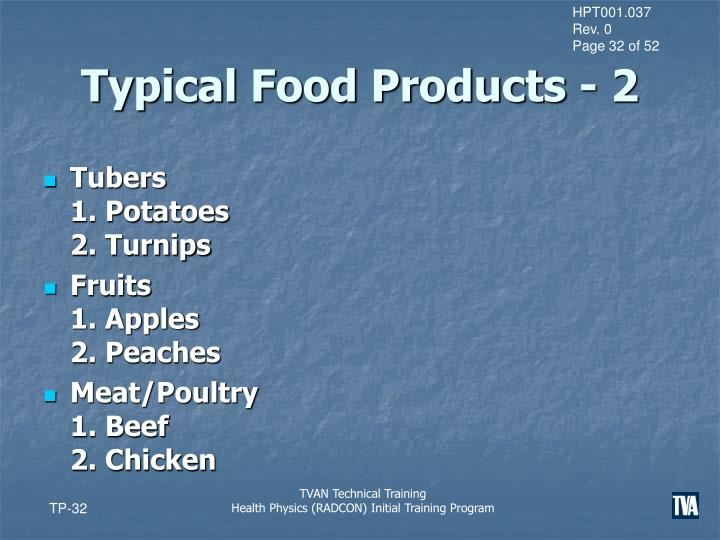 Typical Food Products - 2