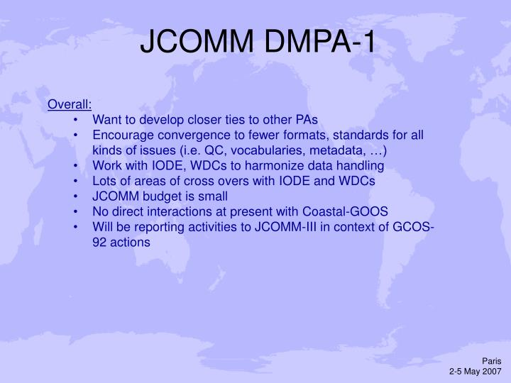 JCOMM DMPA-1
