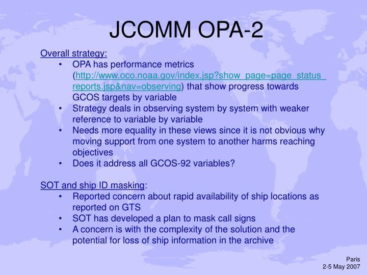 JCOMM OPA-2