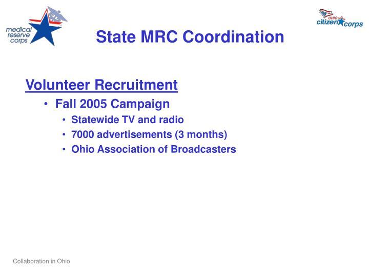 State MRC Coordination