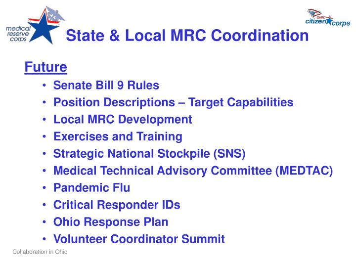 State & Local MRC Coordination