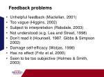 feedback problems
