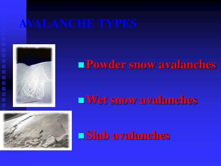 AVALANCHE TYPES