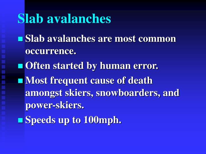 Slab avalanches