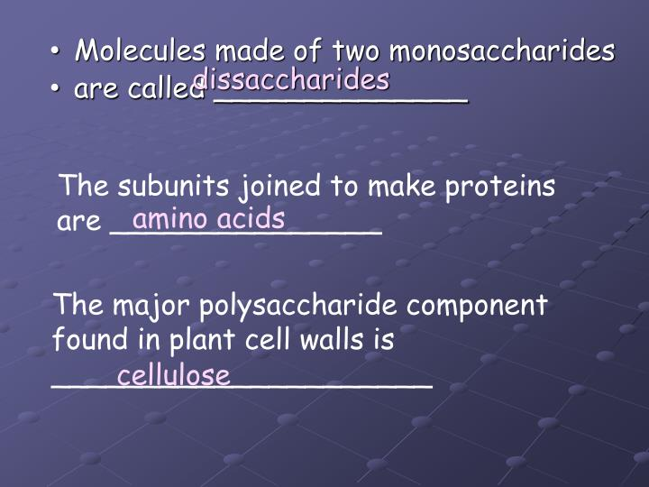 dissaccharides