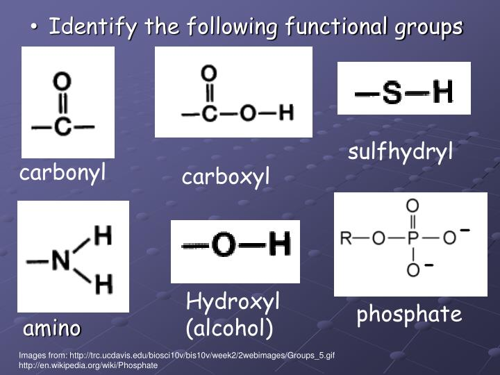 Identify the following functional groups