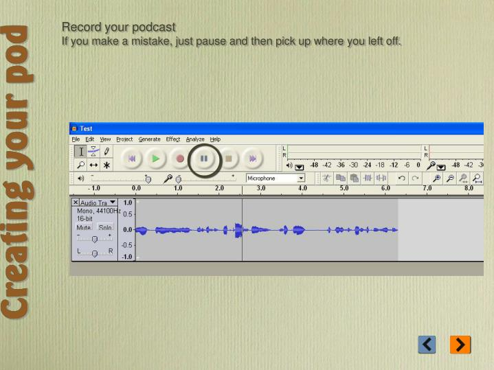 Record your podcast
