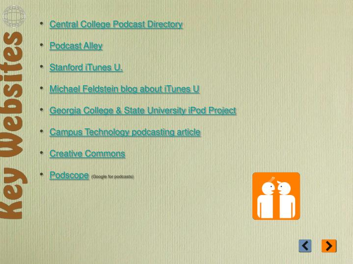 Central College Podcast Directory
