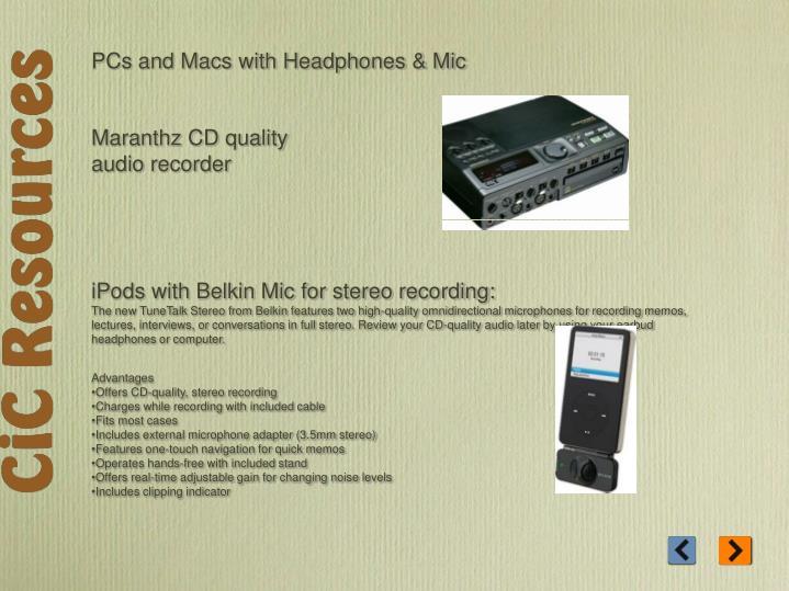 PCs and Macs with Headphones & Mic