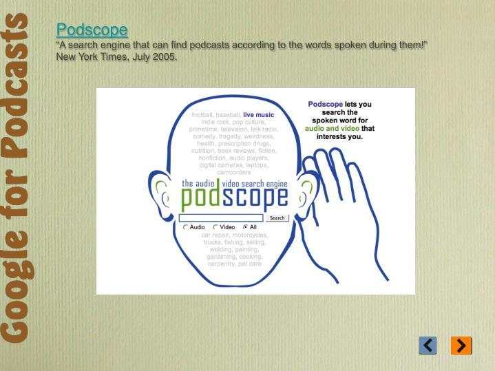 Podscope