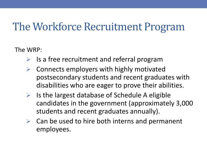 The Workforce Recruitment Program