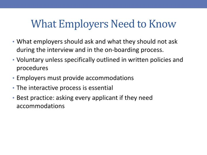 What Employers Need to Know
