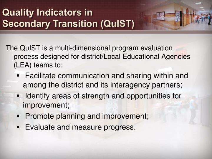 Quality Indicators in