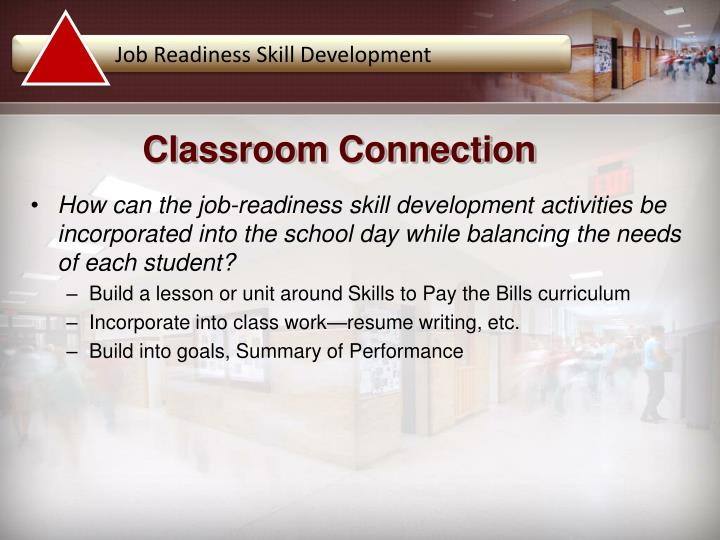 Job Readiness Skill Development