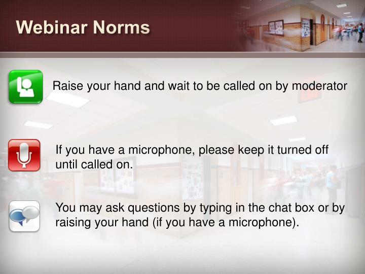 Webinar Norms