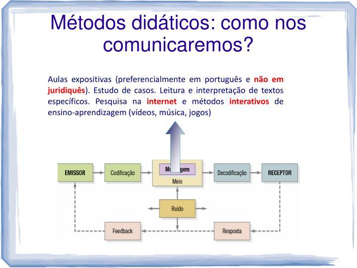 Métodos didáticos: como nos comunicaremos?