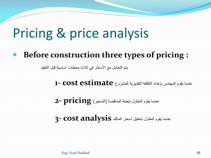 Pricing & price analysis