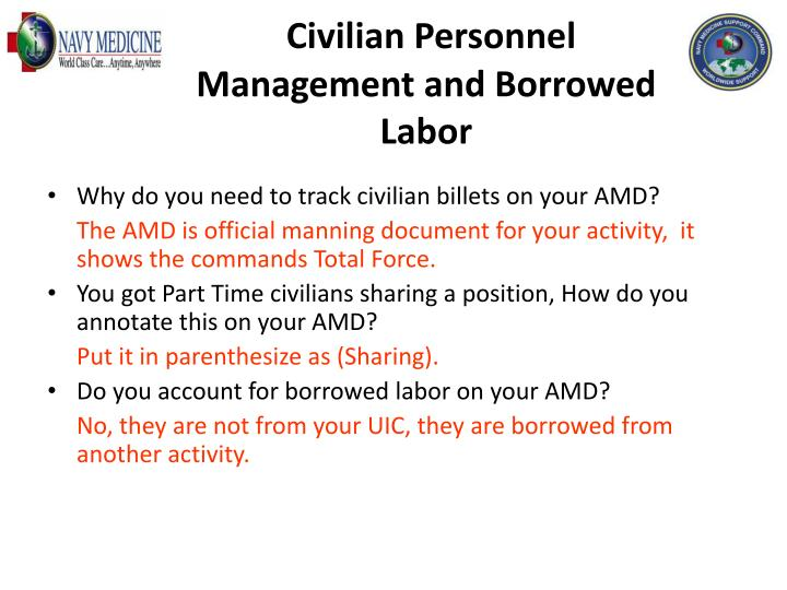 Civilian Personnel Management and Borrowed Labor