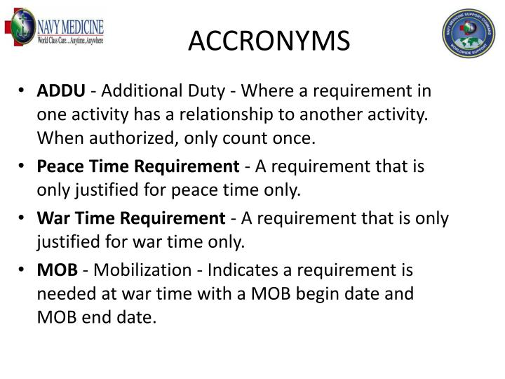 ACCRONYMS