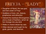 freyja lady
