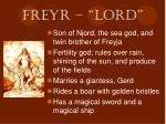 freyr lord