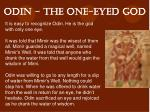 odin the one eyed god