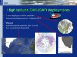 high latitude dmi isar deployments