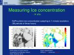 measuring ice concentration in situ