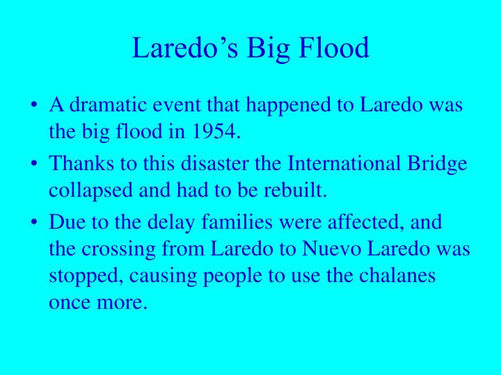 Laredo's Big Flood