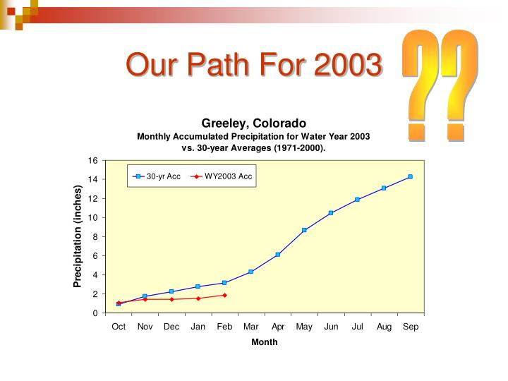 Our Path For 2003