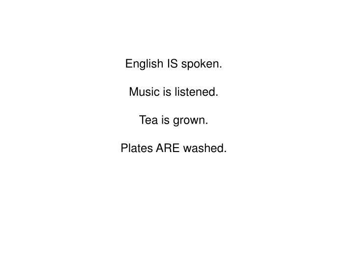 English IS spoken.