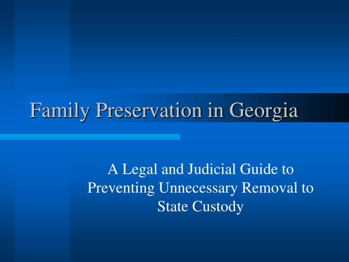 a legal and judicial guide to preventing unnecessary removal to state custody n.