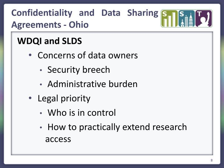 Confidentiality and Data Sharing Agreements - Ohio