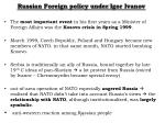 russian foreign policy under igor ivanov