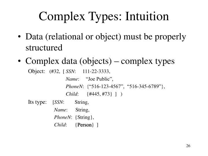 Complex Types: Intuition