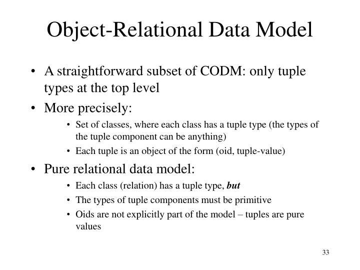 Object-Relational Data Model