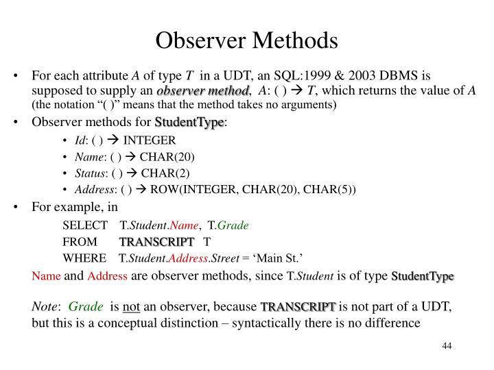 Observer Methods