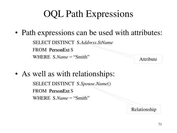 OQL Path Expressions