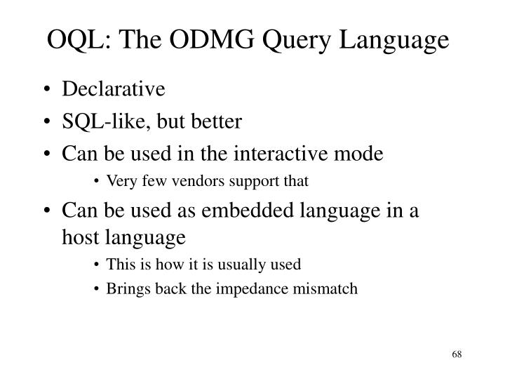 OQL: The ODMG Query Language