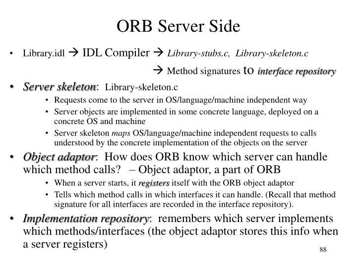 ORB Server Side