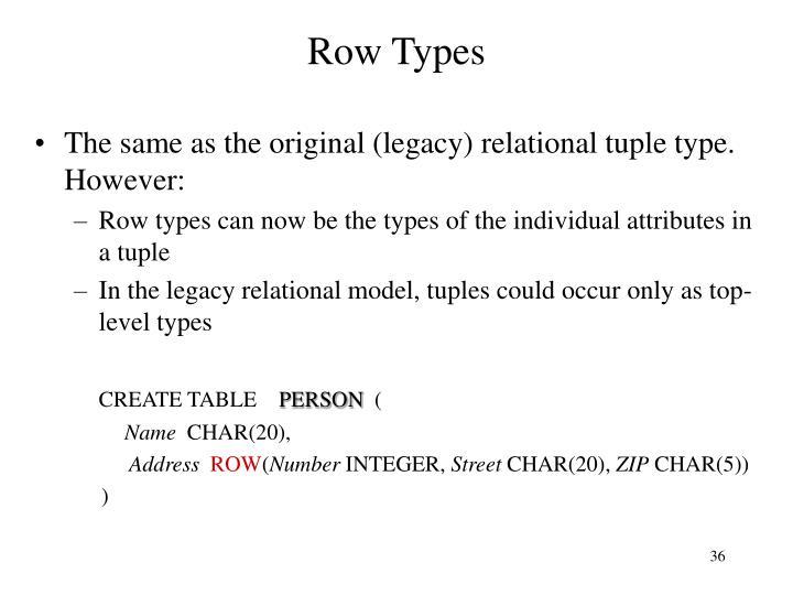 Row Types