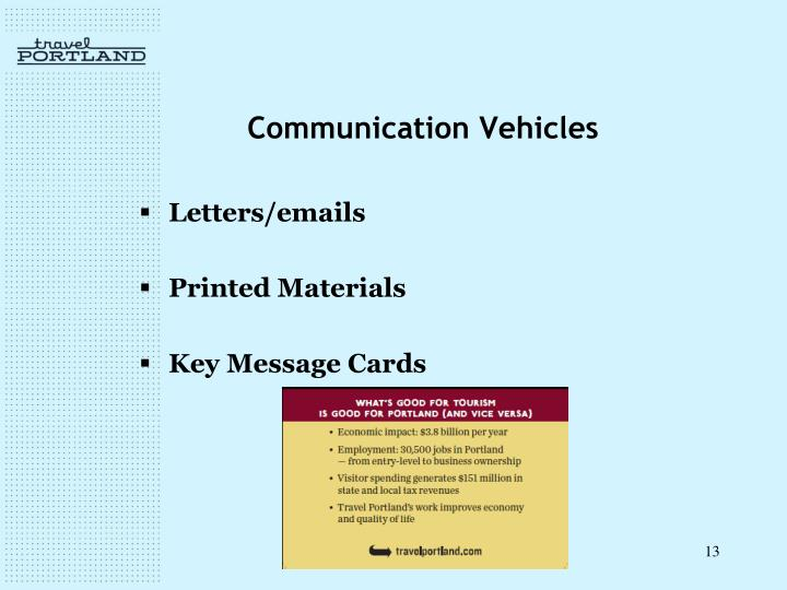 Communication Vehicles