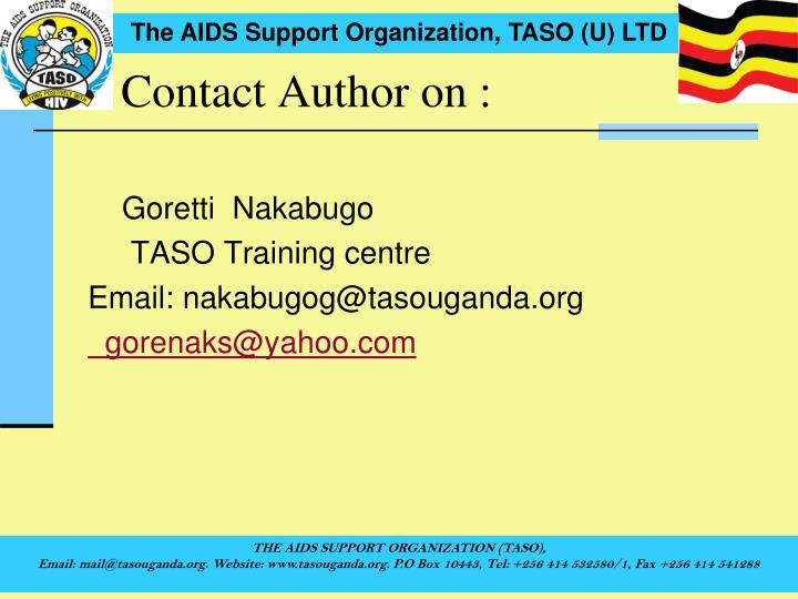 Contact Author on :